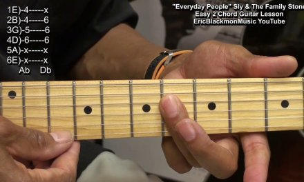 Easy 2 Chord Guitar Song Lesson – Everyday People Sly & The Family Stone