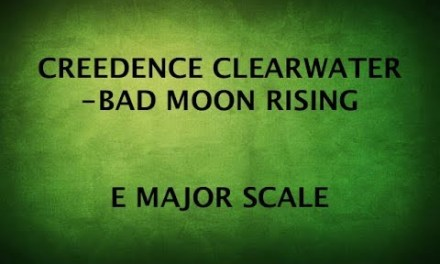 TAMIL GUITAR LESSONS #21- BAD MOON & E MAJOR SCALE