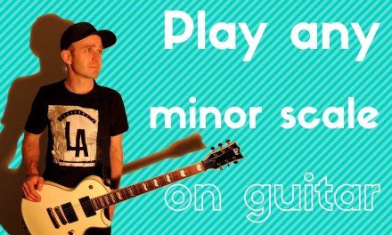 """Beginner guitar lesson 6 How to Play any """"minor scale"""" on guitar"""