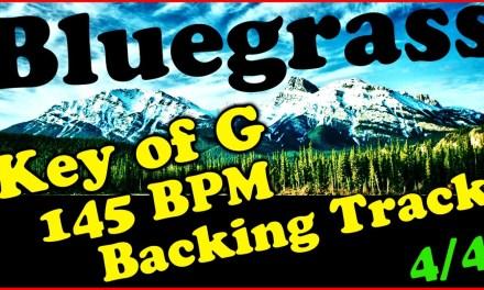Bluegrass Backing Track in G Major – 145 BPM Extended Chords Jam Track | Mandolin | Banjo | Fiddle