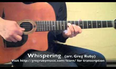 """Greg Ruby: """"Whispering,"""" Solo Guitar Lesson"""