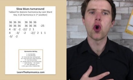 Slow blues turnaround lesson (A harmonica in 1st position)