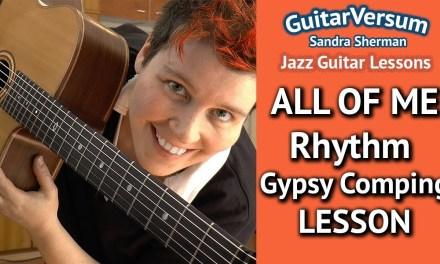 ALL OF ME – RHYTHM GUITAR LESSON – Gypsy Jazz Chords