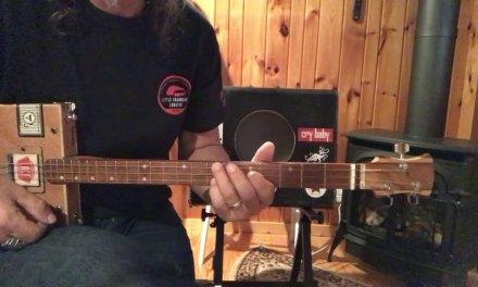 Summertime Blues lesson for 3 string Cigar Box Guitar