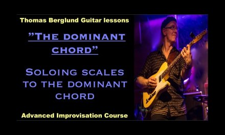 "The dominant chord ""Soloing scales"" / Advanced Improvisation // Guitar lessons"