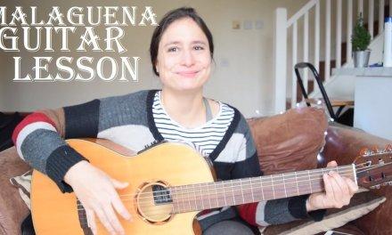 Malaguena guitar lesson – pulgar, ayudado, triplets exercise