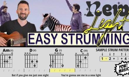 "John Mayer – ""New Light"" EASY ACOUSTIC Open Chords Guitar Lesson/Play Along (tutorial)"