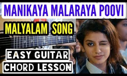 Oru adaar love | Manikya malaraya poovi easy guitar chord lesson, beginner guitar tutorial