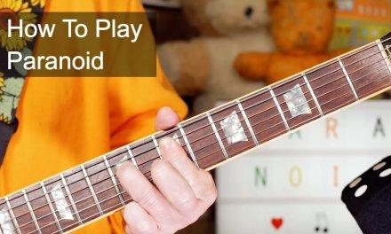 'Paranoid' Black Sabbath Guitar Lesson