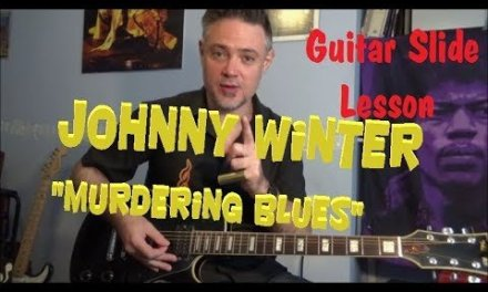 "Johnny Winter – ""murdering blues"" guitar lesson slide blues how to play"