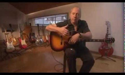 Mark Knopfler (Dire Straits) gives private guitar lesson on Acoustic Guitar