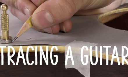 Tracing a guitar to build your own