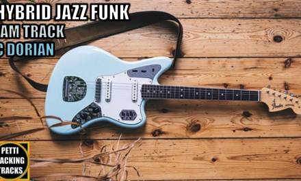 Hybrid Jazz Funk Guitar Backing Track Jam in C Dorian Blues