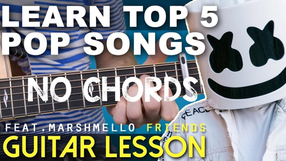Top 5 Easy Pop Songs 2018 Guitar Lesson No Chords Friends 2002