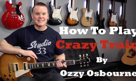 How to Play Crazy Train Guitar Lesson/ Tutorial