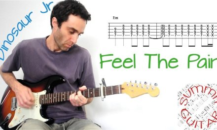 Dinosaur Jr. – Feel The Pain – Guitar lesson / tutorial / cover with tablature