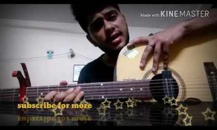 Dhadak guitar lesson/easycords /dhadak guitar cords hindi/very easy tutorial Title track dhadak