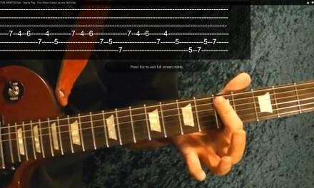 ROCK/BLUES SOLO BASICS Part 2 of 3 ( Guitar Lesson )