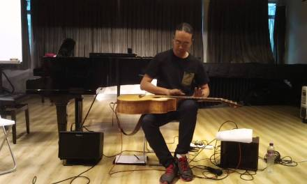 Lap Tapping Acoustic Guitar on a Lowden – Az Samad