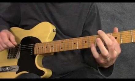 Blues guitar rhythm using sliding 9th chords – BR012