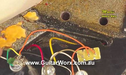 Grounding the bridge on a Flying V Guitar Kit – www.GuitarCentre.store – USA Guitar Kits