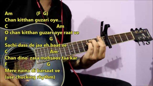 Chan Kitthan – Ayushmann Khuranna | Guitar Chords Lesson With Intro ...