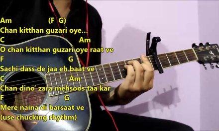 Chan Kitthan – Ayushmann Khuranna | Guitar Chords Lesson With Intro