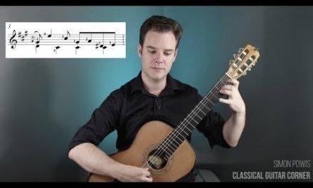 Scarlatti Sonata in A Major K208 Classical Guitar Lesson