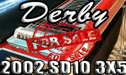 Pedal Steel Guitar Auction Block: '02 Derby SD10 3×5