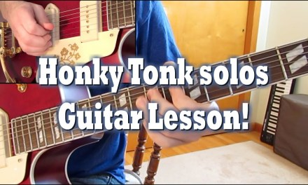 Honky Tonk Bill Butler solos – Lesson (KEY of F)