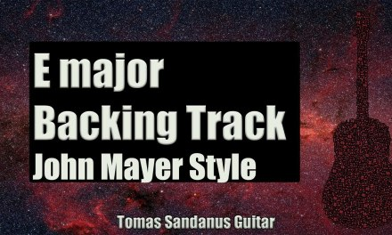 John Mayer Style Backing Track in E Major – Gravity Style Guitar Backtrack – Chords – Scale – BPM