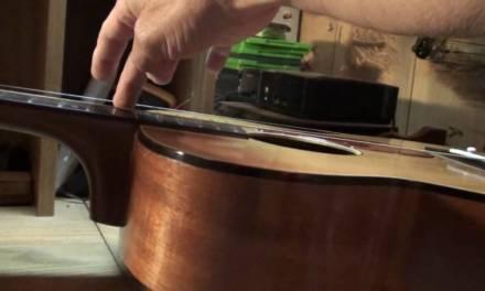 Guitar neck reset angle calculation how to by Randy Schartiger