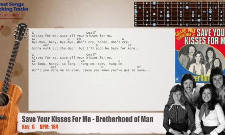 Save Your Kisses For Me – Brotherhood of Man Guitar Backing Track with chords and lyrics