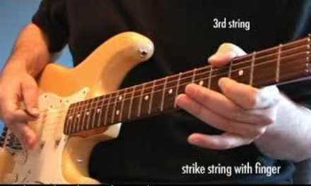 The Whammy Bar motorcycle trick (guitar lesson)