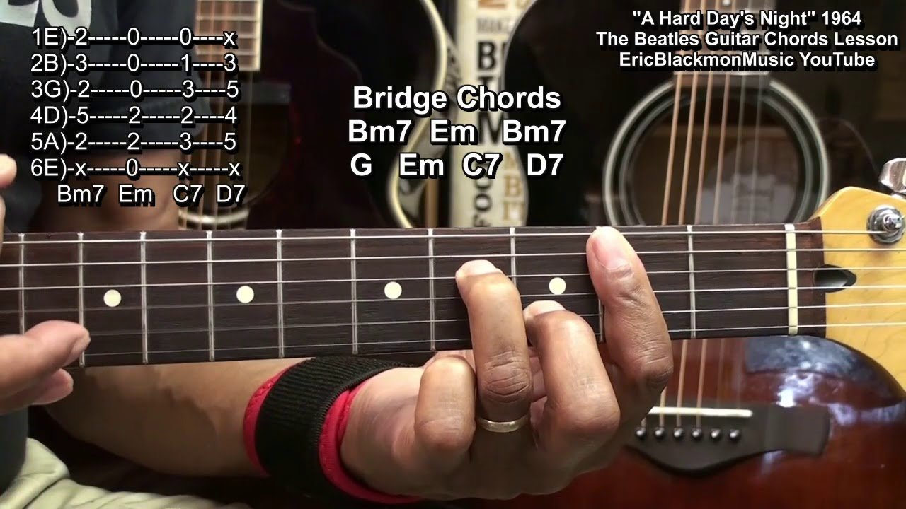 The Beatles A Hard Days Night Guitar Chords Lesson