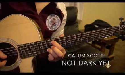Easy Guitar Lesson // Calum Scott // Not Dark Yet