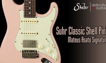 Suhr Classic Mateus Asato Signature Series Guitar   Shell Pink Antique
