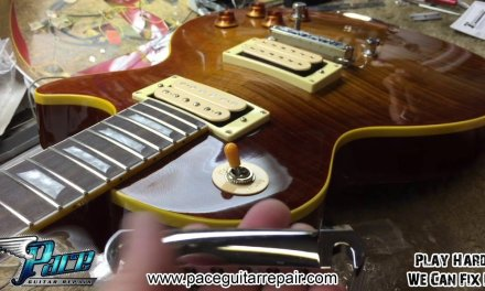 Chibson Les Paul gets upgraded Aluminum Tailpiece