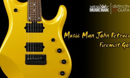 Ernie Ball Music Man John Petrucci JP6 Signature Guitar | Firemist Gold