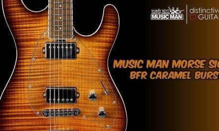 Ernie Ball Music Man Steve Morse Signature   BFR Caramel Burst Limited Edition