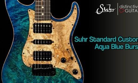 Suhr Standard Custom | Aqua Blue Burst Spalted Maple Guard