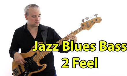 Jazz Blues  Bass in a 2 Feel