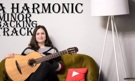 A harmonic minor rumba guitar backing track