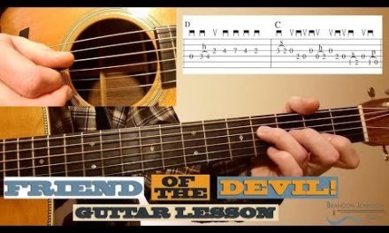 Friend of the Devil – Beginner Guitar Lesson with TAB
