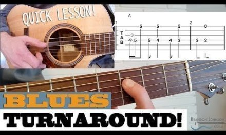 Quick Lesson – Blues Turnaround in A – Fingerstyle Guitar Lesson with TAB