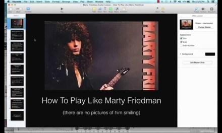 Marty Friedman Lead Guitar Lesson: Progressions, Scales, Arpeggios, Etc