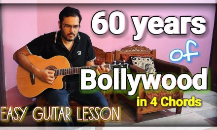 60 Years of Bollywood in 4 Open Chords – ScoopWhoop Version | Easy Guitar Lesson For Beginners
