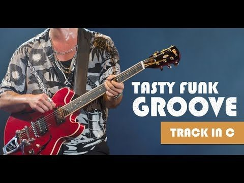 Tasty Funk Groove Guitar Backing Track in C minor