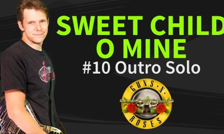 How to play Sweet Child O' Mine Guitar Lesson #10 Outro Solo Slash – Guns N' Roses