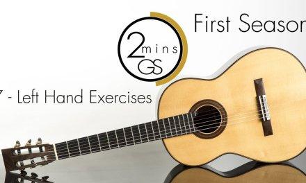 "7 – Left Hand Exercises – ""2 Minutes Guitar School"" – How to Play Guitar-Beginners (Tutorials)"